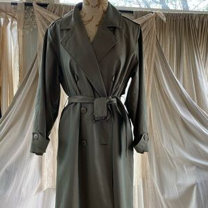 Perry Ellis   vintage iridescent trench coat 8